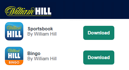 visit to see all William Hill Apps available to your device